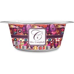 Abstract Music Stainless Steel Dog Bowl (Personalized)