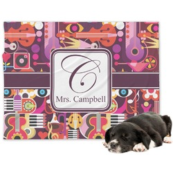 Abstract Music Minky Dog Blanket (Personalized)
