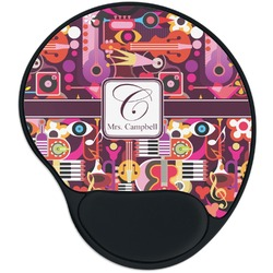 Abstract Music Mouse Pad with Wrist Support