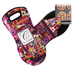 Abstract Music Neoprene Oven Mitt (Personalized)