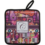 Abstract Music Pot Holder w/ Name and Initial