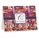 Abstract Music Note cards (Personalized)