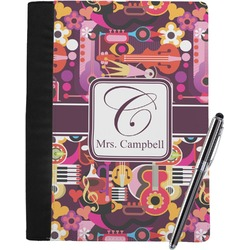Abstract Music Notebook Padfolio (Personalized)
