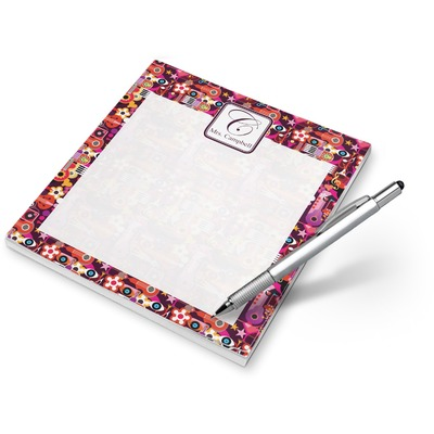 Abstract Music Notepad (Personalized)