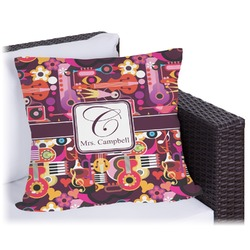 Abstract Music Outdoor Pillow (Personalized)