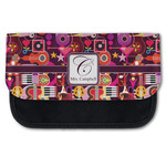 Abstract Music Canvas Pencil Case w/ Name and Initial
