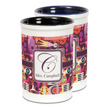 Abstract Music Ceramic Pencil Holder - Large