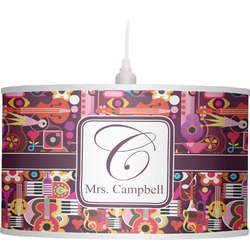 Abstract Music Drum Pendant Lamp Linen (Personalized)
