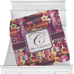 Abstract Music Minky Blanket (Personalized)