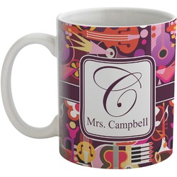 Abstract Music Coffee Mug (Personalized)