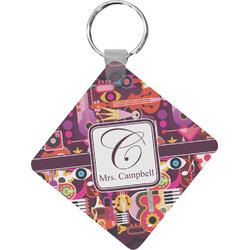 Abstract Music Diamond Key Chain (Personalized)