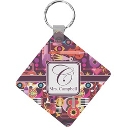 Abstract Music Diamond Key Chain (Personalized)