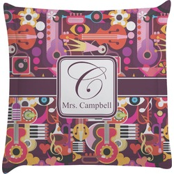 Abstract Music Euro Sham Pillow Case (Personalized)