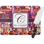 Abstract Music Rectangular Glass Cutting Board (Personalized)