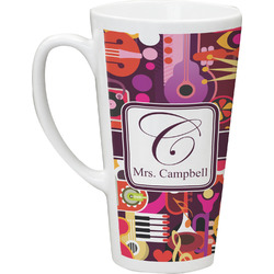 Abstract Music Latte Mug (Personalized)
