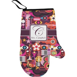 Abstract Music Oven Mitt (Personalized)