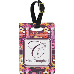 Abstract Music Rectangular Luggage Tag (Personalized)