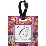 Abstract Music Square Luggage Tag (Personalized)