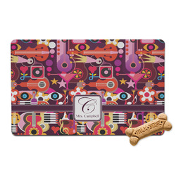 Abstract Music Pet Bowl Mat (Personalized)