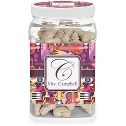 Abstract Music Dog Treat Jar (Personalized)