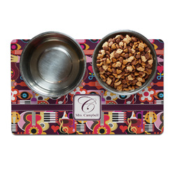 Abstract Music Dog Food Mat (Personalized)