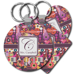 Abstract Music Plastic Keychains (Personalized)