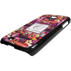 Abstract Music Plastic Samsung Galaxy 4 Phone Case (Personalized)