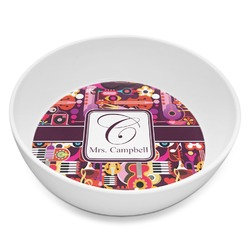 Abstract Music Melamine Bowl 8oz (Personalized)