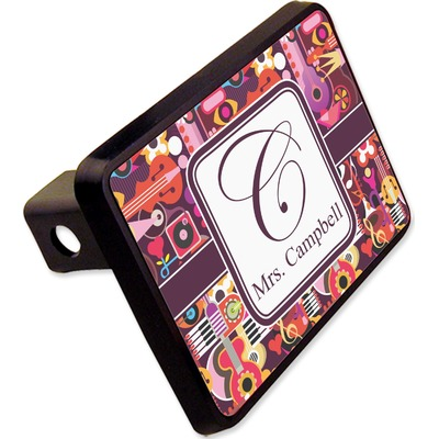 """Abstract Music Rectangular Trailer Hitch Cover - 2"""" (Personalized)"""