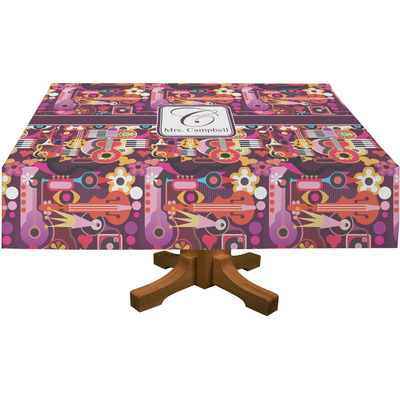 """Abstract Music Tablecloth - 58""""x102"""" (Personalized)"""