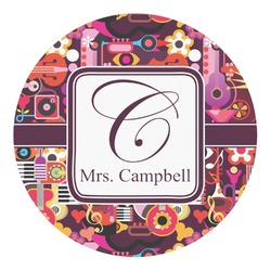 Abstract Music Round Decal (Personalized)