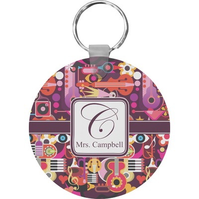 Abstract Music Keychains - FRP (Personalized)