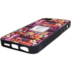 Abstract Music Rubber iPhone 5/5S Phone Case (Personalized)