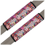 Abstract Music Seat Belt Covers (Set of 2) (Personalized)