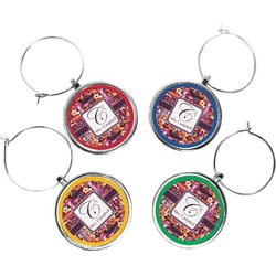 Abstract Music Wine Charms (Set of 4) (Personalized)