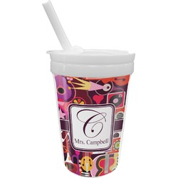 Abstract Music Sippy Cup with Straw (Personalized)