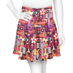 Abstract Music Skater Skirt (Personalized)