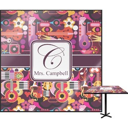 Abstract Music Square Table Top (Personalized)