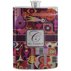Abstract Music Stainless Steel Flask (Personalized)