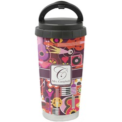 Abstract Music Stainless Steel Coffee Tumbler (Personalized)