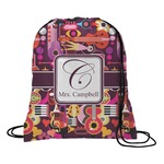 Abstract Music Drawstring Backpack (Personalized)