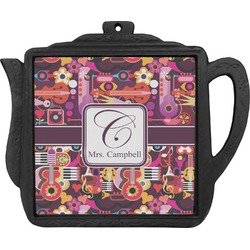 Abstract Music Teapot Trivet (Personalized)
