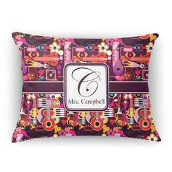 Abstract Music Rectangular Throw Pillow Case (Personalized)