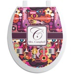 Abstract Music Toilet Seat Decal (Personalized)