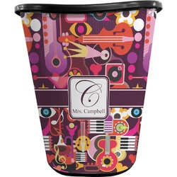 Abstract Music Waste Basket - Double Sided (Black) (Personalized)