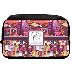 Abstract Music Toiletry Bag / Dopp Kit (Personalized)