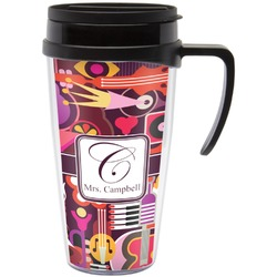 Abstract Music Travel Mug with Handle (Personalized)