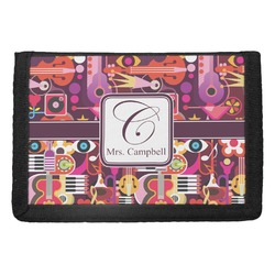 Abstract Music Trifold Wallet (Personalized)