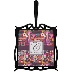 Abstract Music Trivet with Handle (Personalized)