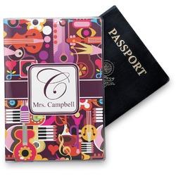Abstract Music Vinyl Passport Holder (Personalized)